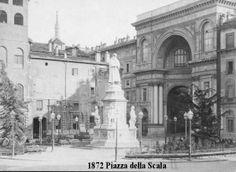 Milano,Piazza Alla Scala anno 1872