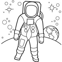 Free Space Astronaut Coloring Pages - Free Space Astronaut Coloring Pages