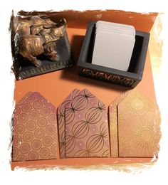 3x3 Mini Envelopes w/Blank Note Cards  Set of 6  by PoeticGarb