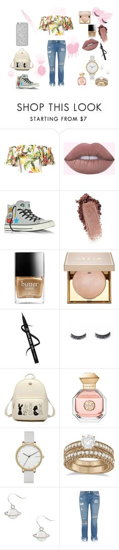 """Summertime and the living's easy"" by xeatennia on Polyvore featuring Isolda, Converse, Butter London, Stila, Tory Burch, Skagen, Allurez, 3x1 and MICHAEL Michael Kors"
