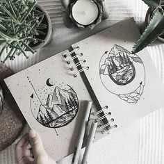 Morning mountains ⭐ tattoo design
