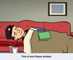 Bitstrips-This is how Rayan studies.