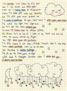 Oh darling I wish you were here.