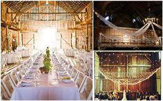 twinkle lights and barn wedding
