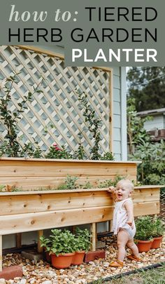 How to make this tiered herb garden planter: the perfect Spring backyard DIY!