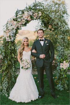 Lovely And Lush Romantic Wedding