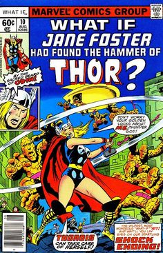 What if Jane Foster found the hammer of Thor? After helping Asgardians fend off Loki, mortal Jane Foster is deemed worthy of Mjolnir. Will Jane still be the love of Thor? Marvel Comics, Marvel E Dc, Bd Comics, Marvel Heroes, Marvel News, Marvel Funny, Lady Thor, Thor 1, Lady Sif