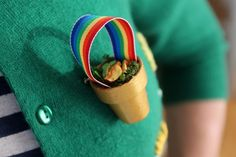 Create a wearable pot of gold at the end of the rainbow.