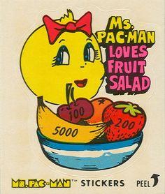 Ms. Pac-Man loves fruit salad!