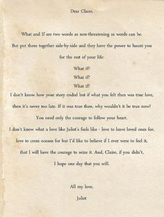 Letters to Juliet! Love this movie!!!