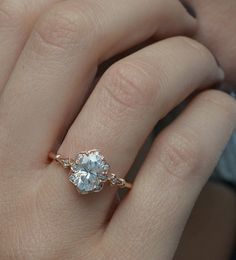 Oval Engagement ring  9x7 or 8X6  Moissanite Forever One in