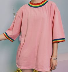 80's Rainbow Striped T-shirts (M-L) on Storenvy