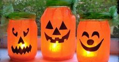 Cute and simple pumpkin lanterns. No carving required