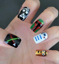 star_wars nail art