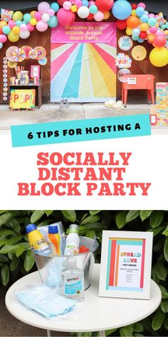 Connect with your community while keeping everyone safe with these 6 Top Tips for hosting a Socially Distant Block Party. With ideas for how to keep everything clean, how to serve food and drinks, how to play safe games, and more! Get all of the details now at fernandmaple.com.