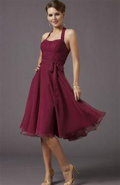 Halter Ribbon Detailed Knee-length Dress - OuterInner.com
