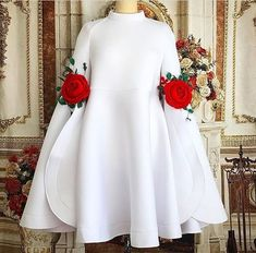 Cheap white cocktail dress, Buy Quality cocktail dresses directly from China cocktail white dress Suppliers: New Arrival High Neck Long Sleeves White Cocktail Dresses 2017 with Flowers Mini Short Beautiful Black Party Dress Formal Gowns African Attire, African Fashion Dresses, African Dress, Hijab Fashion, Fashion Outfits, Dress Fashion, Mode Lolita, Hijab Stile, Vetement Fashion
