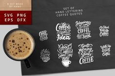 Typography Hand Lettering Coffee Quotes SVG Bundle by weapedesign on Envato Elements Coffee Type, Coffee Is Life, Drink Coffee, Free Svg Cut Files, Svg Files For Cricut, Find Quotes, Graphic Quotes, Silhouette Designer Edition, Coffee Quotes