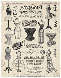 Dress forms and corsetry poster.