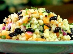 Grilled Corn and Bean Salad from FoodNetwork.com  i swear, I just love saying his name!