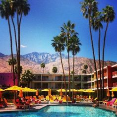 palm springs For All Things Lovely, The Good Place, Palm Springs Florida, Desert Colors, Vintage Hotels, Sweet Life, Summer Beach, Places Ive Been, Dolores Park