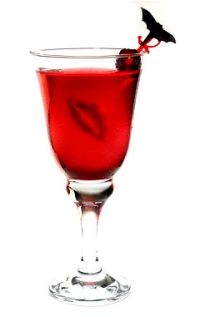 Vampire's Dream: Rum, pineapple juice, cranberry juice and a splash of grenadine.