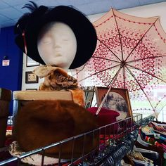 Our #Monroeville store's #vintage section has some pretty fantastic hats in stock! Don't miss out!  #thriftstorefinds #thrifting #pittsburgh #pgh #svdpstyle