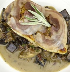 Chicken with Pancetta and Shrooms