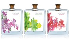 """Nature"" diffuser bottles packaging & ID design concept // Studio MPLS Perfume Packaging, Flower Packaging, Tea Packaging, Beauty Packaging, Cosmetic Packaging, Bottle Packaging, Brand Packaging, Id Design, Store Design"
