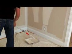 How to paint a room in 10 minutes.  Will definitely be painting this way from now on!