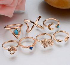 7 pcs/1 set Hot Cool Fashion Women Jewelry Accessories Fashion Ring Set Elephant Triangle Midi Finger Rings Set Punk Joint Ring. Yesterday's price: US $0.50 (0.41 EUR). Today's price: US $0.30 (0.25 EUR). Discount: 41%.