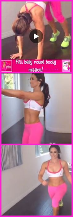 Super Quick Flat Belly Round Booty Workout! Are you in? Click the image to view the short video!