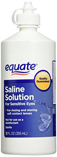 #vision #Equate Saline Solution is a sterile, isotonic, buffered solution, in which to safely store contact lenses. This contact lens solution keeps lenses moist...