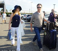 Wedded bliss: Geri Haliwell beamed as she and her new husband Christian Horner arrived at Nice airport on Saturday Geri Horner, Viva Forever, Geri Halliwell, Days Of Our Lives, Formula One, Types Of Fashion Styles, Newlyweds, F1, Bliss
