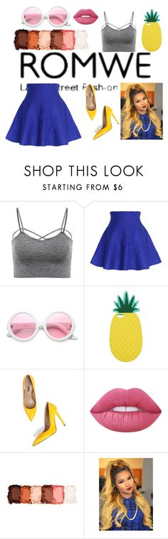 """Romwe contest entry suggested by emina-393"" by fairygodmothersavestheday ❤ liked on Polyvore featuring Chicwish, ZeroUV, Miss Selfridge, Lime Crime and NYX"