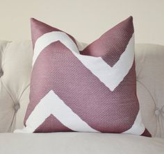 Purple Pillow Cover - Purple Geometric Zig Zag Pillow - Plum Throw Pillow - Decorative Chevron - Modern Purple Pillow - Grape Purple. master bed