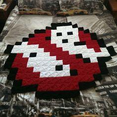 8-Bit Ghostbusters Afghan Blanket by AmandaJayne00 on deviantART