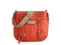 """Franco Sarto Outback Cross Body  •Zip pockets on front and back   •Fabric lining, center zip compartment  •Two snap close comptmts with slip pockets, zip pocket •9½ """" x 1 """" x 10 """""""