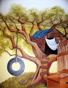 tree-house mural