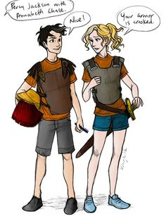 Percy Jackson and Annabeth Chase by Burdge (Battle Of The Labyrinth)