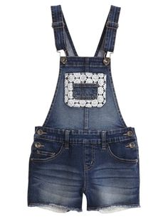 Crochet Denim Shortalls | Girls Shorts Bottoms | Shop Justice