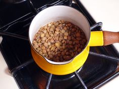 Cook up lentils, split peas, or oats as a warm treat on a cold day.