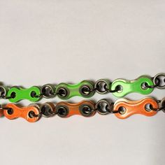 New BMX designs handmade chain with double single links. When your bracelet twists the same colour/look will be on both sides. Better and stronger too Twists, Bmx, Colour, Bracelet, Chain, Handmade, Etsy, Design, Chunky Twists