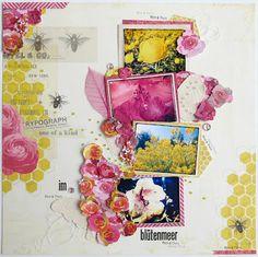 Scrapbox - Maria Asmus - im Blütenmeer