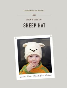Quick and Easy Knit Sheep Hat | Free pattern download from Coloradomoms.com