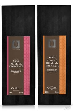 Hotel Chocolate - (Cocoa Cuisine Collection) Chilli Drinking Chocolate & Salted Caramel Drinking Chocolate.