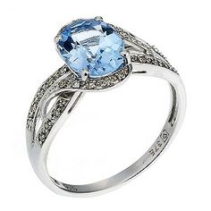 Beautiful blue engagement ring...not for a long time lol but def my favorite