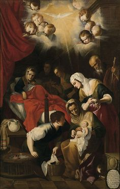 Mateo Gilarte The Birth of the Virgin 1651 - Museo del Prado, Madrid, Spain