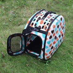 New Folding Pet Carrier Dog Cat Travel Bag Collapsible Crate Tote Handbag