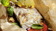 Bakt torsk med pesto Pesto, Recipies, Food And Drink, Turkey, Fish, Chicken, Dinner, Ethnic Recipes, Recipes